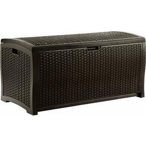 Suncast Mocha Wicker Resin Deck Box