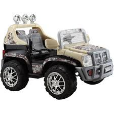 Monster-Trax-SUV-12-Volt-Battery-Powered-Ride-On-Tan-Camo