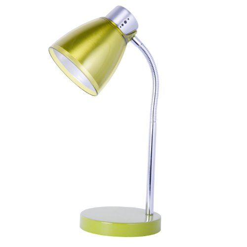 Home Design, Juicy, 15 Inch Tall, Desk Lamp, Chrome/olive Green Acrylic Details