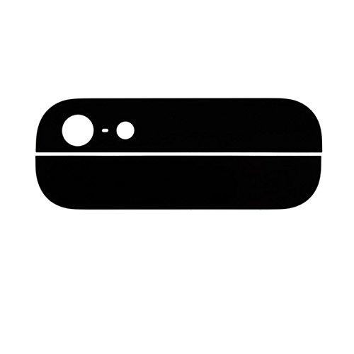 Mobile Expert 【Amazon即日出荷 】iPhone 5 バック/背面ガラス 上下セット  ブラック Black  アイフォン5 + Apple純正pentalobe screw  ブラック2個付  + +iPhone5用Screen Tape Adhesive Sticker  カスタムパーツ リペアパーツ 修理・交換用部品 i5 黒
