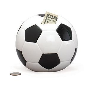 Soccer Shape Piggy Bank