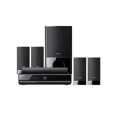 Sony BDVE300 5.1 Channel High Definition Blu Ray Disc Player/DVD Disc Home  Theater System (Black)
