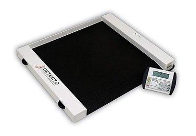 Detecto Roll-A-Weigh Wheelchair Scale Wheelchair Scale - 1,000-lb. Capacity