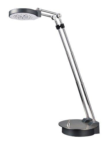 Normande Lighting GS5-832 Brushed-Steel 8-to-14-Inch Adjustable-Height LED Desk Lamp