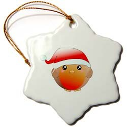 Santa Robin Ornament