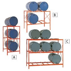 MECO Drum Storage Racks - Orange