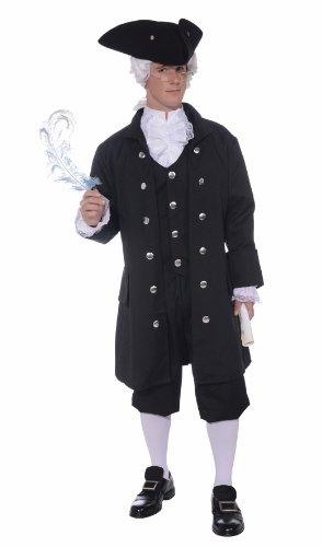 Forum Novelties Men's Founding Father Patriotic Adult Costume, Black, Standard
