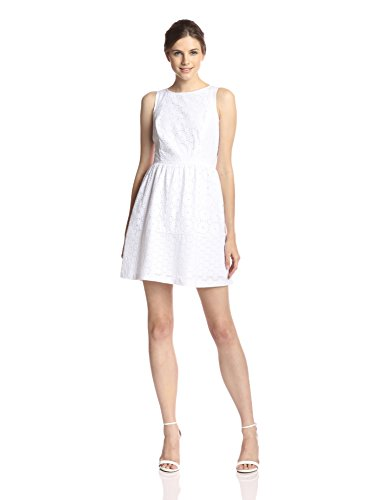 kensie Eyelet Dress - White
