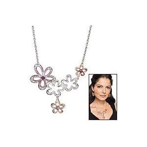 Avon Floral Accent Statement Necklace