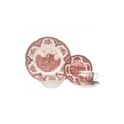 Johnson Brothers Old Britain Castles 20-Piece Dinnerware Set, Pink