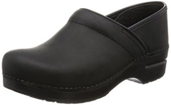 Dansko Women's Professional Oiled Leather Clog,Black,38 EU / 7.5-8 B(M) US
