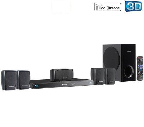 PANASONIC 3D Heimkinosystem SC-BTT270EBK - Schwarz + HDMI-Kabel F3Y021BF2M - 2 m + 2 Wandhalterung für Lautsprecher VLB 50A + SurgeStrip E-Series - Überspannungsschutz + USB-Stick DataTraveler 108 - 8 GB .