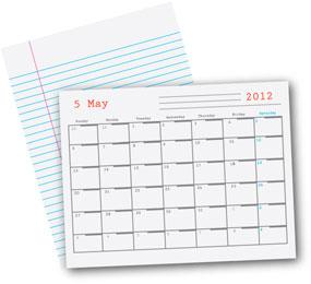 Bonus templates - Print lined paper & calendars, PC-free