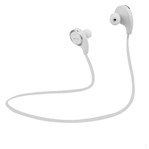 Walant CVC6.0ノイズキャンセル Bluetooth イヤホン 4.1 ワイヤレスステレオヘッドセットイヤーフック付き マイク内臓/通話可能 ホワイト