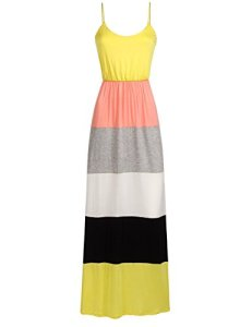Luna-Flower-Womens-Summer-Stylish-Bohemian-Style-Striped-Knit-Long-Maxi-Dresses