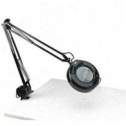 Ledu L745BK Fluorescent Magnifying Swing Arm Clamp Mount Lamp, 42 Reach, Black