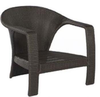 LA VEGA Lounge-Sessel schwarz-braun Aluminiumgestell/Kunststoffgeflecht