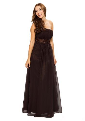 Wundervolles langes Abendkleid im Toga Stil, Farbe braun, Astrapahl, Gr.34