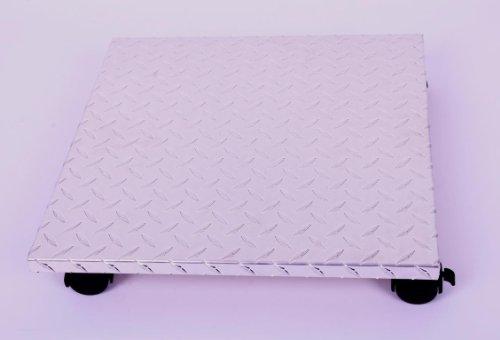 Möbelroller / Pflanzenroller 40x40 cm, ALU, 100 kg, Bürorolle