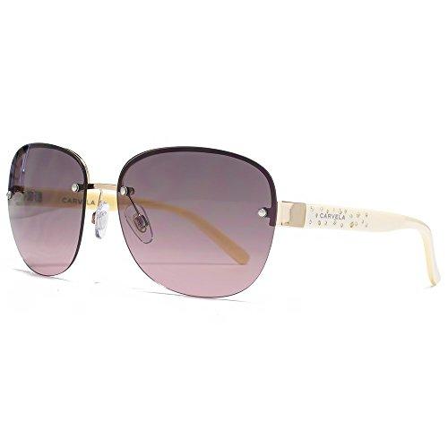 Carvela Diamante Tempel randlose Sonnenbrille im glänzend hell Gold CAR021