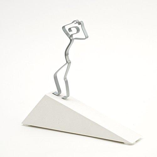 """""""Geschafft!"""", Sandsteinguss, Skulptur Figur Geschenk zur bestandenen Prüfung Examen"""