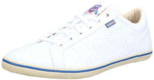 K-Swiss HOF III 02802-158-M, Herren Sneaker, Weiss (White/Gravilla/Classic Blue), EU 41 (UK 7)