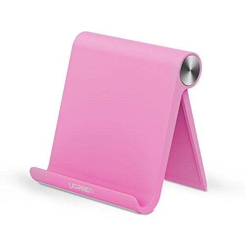 Ugreen スマホスタンド おりたたみ 角度調整可能 デスクトップスタンド iPhone iPad iPod Galaxy Nexus 等タブレット スマホに最適 全3色 ピンク