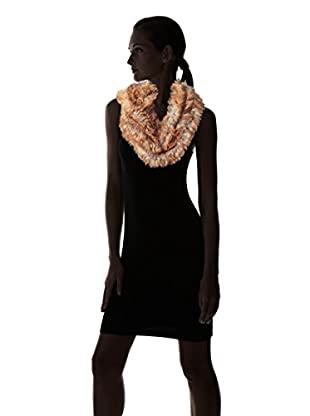 Love Token Women's Fur Infinity Scarf, Natural