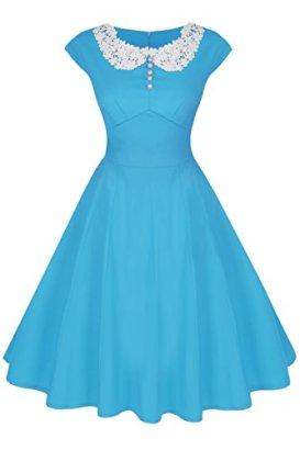 ACEVOG-Womens-Cap-Sleeve-Vintage-Retro-Bridesmaid-Party-Cocktail-Dress-SkyBlue-XX-Large