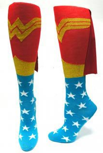 Wonderwoman Caped Socks