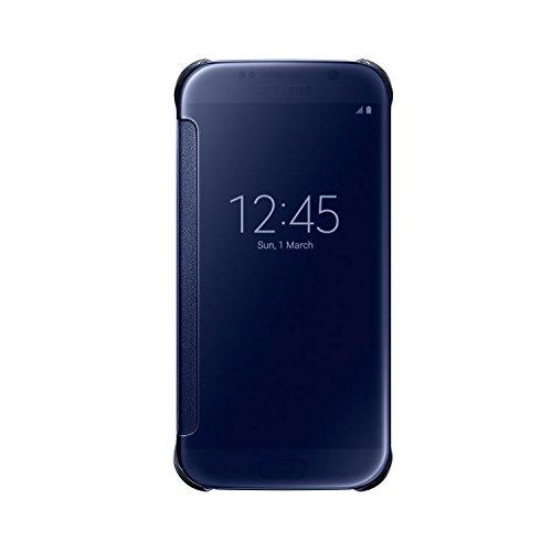 [Samsung純正] Galaxy S6 Clear View Cover - ギャラクシーS6 クリアビューカバー (前面シースルーカバー) (ブラック)