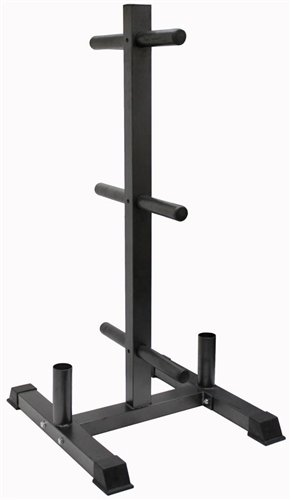 VTX Vertical Olympic Bumper Plate Rack and Bar Holder