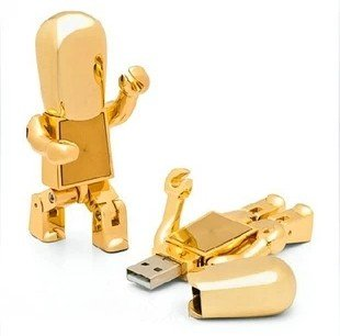 Newdigi® Cool Metal Robot 4gb/8 Gb/16gb USB Flash Drive - Silver/golden