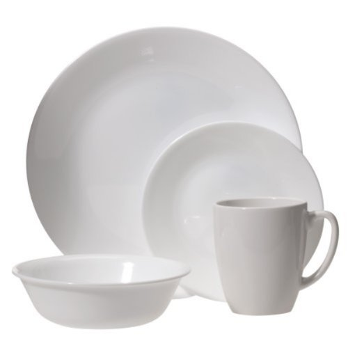 Corelle Livingware Winter Frost 16-Piece Dinnerware Set, Service for 4