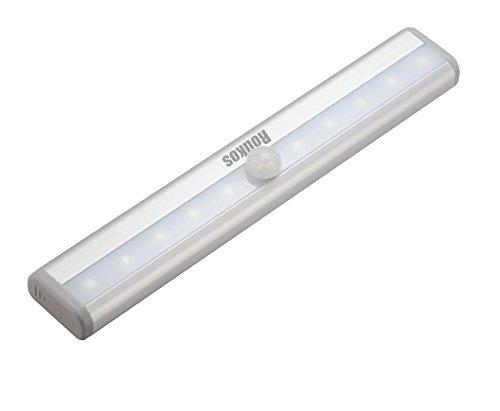 Motion Sensor Light - Roukos Wireless/Rechargble 10-LED Infrared Sensing Light DIY Stick-on Anywhere