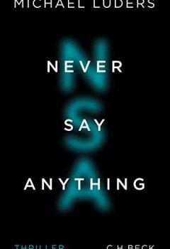 Buchdeckel von Never Say Anything: Thriller