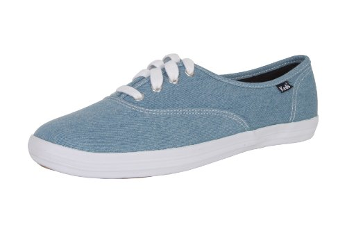 Keds Champion Oxford Denim Damen Schuhe Sneakers Freizeitschuhe Sportschuhe Turnschuhe Low Canvas für Frauen Jeans Blau Denim Größe D 38 UK 5