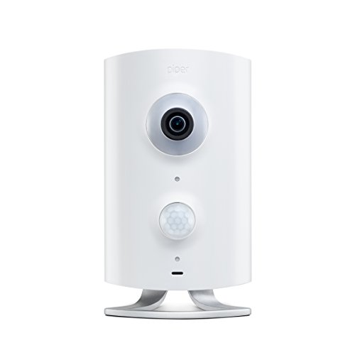 Piper nv Smart Home Security System with Immersive Video Camera and Home Automation Controls, White