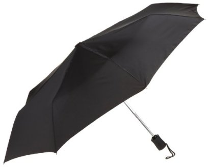 Lewis-N-Clark-Compact-Lightweight-Travel-Umbrella-Opens-Closes-Automatically-Black-One-Size