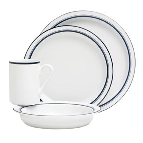 Dansk Christianshavn Blue 4-Piece Place Setting, Service for 1