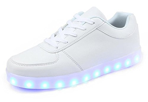 KaLeido Unisex USB Charging 7 Colors LED Sport Shoes Flashing Fashion Sneakers Light Up Sport Shoes