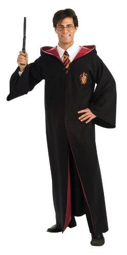 Harry Potter Adult Deluxe Robe, Black, Standard Costume (Medium)