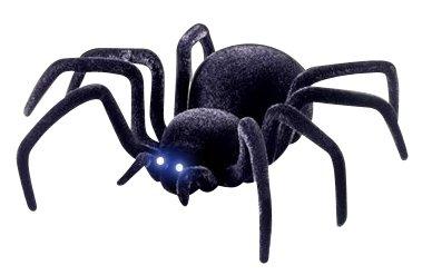 スパイダー ラジコン 蜘蛛 リモコン操作で本物みたいにガサガサ動く LED搭載 夜間対応◇FS-TARA01