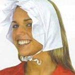 17043 Costume Puritan Quaker Bonnet Cotton