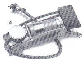 Fußpumpe 0-7 Bar mit Manometer für Fahrrad und Auto