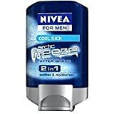 Nivea For Men 2 In 1 Artic Freeze, After Shave Gel and Moisturizer, 3.3-Ounce (Pack of 2)