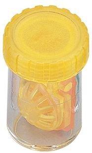 Barrel Stil Kontaktlinsenbehälter - transluzent gelb ~ (3 pack)