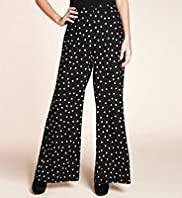 Wide Leg Floral Print Palazzo Trousers