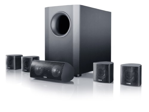 Canton Movie 70 Heimkinosystem mit aktivem Subwoofer (2-Wege Satelliten/Center/Surround, 100 Watt, SC-Technologie) schwarz