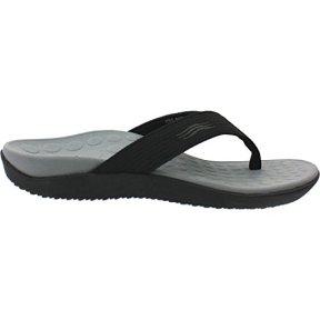 Vionic Unisex Wave Orthaheel Thong Sandal Shoe, Black, Mens US 9/Womens US 10